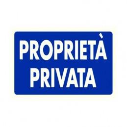 Cartello 'Proprietà privata'