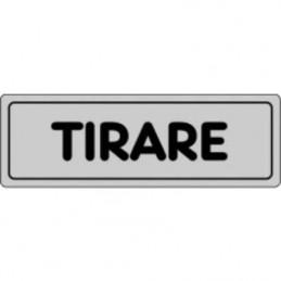 Etichetta 'Tirare'