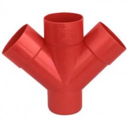 Derivazione doppia 45° PVC